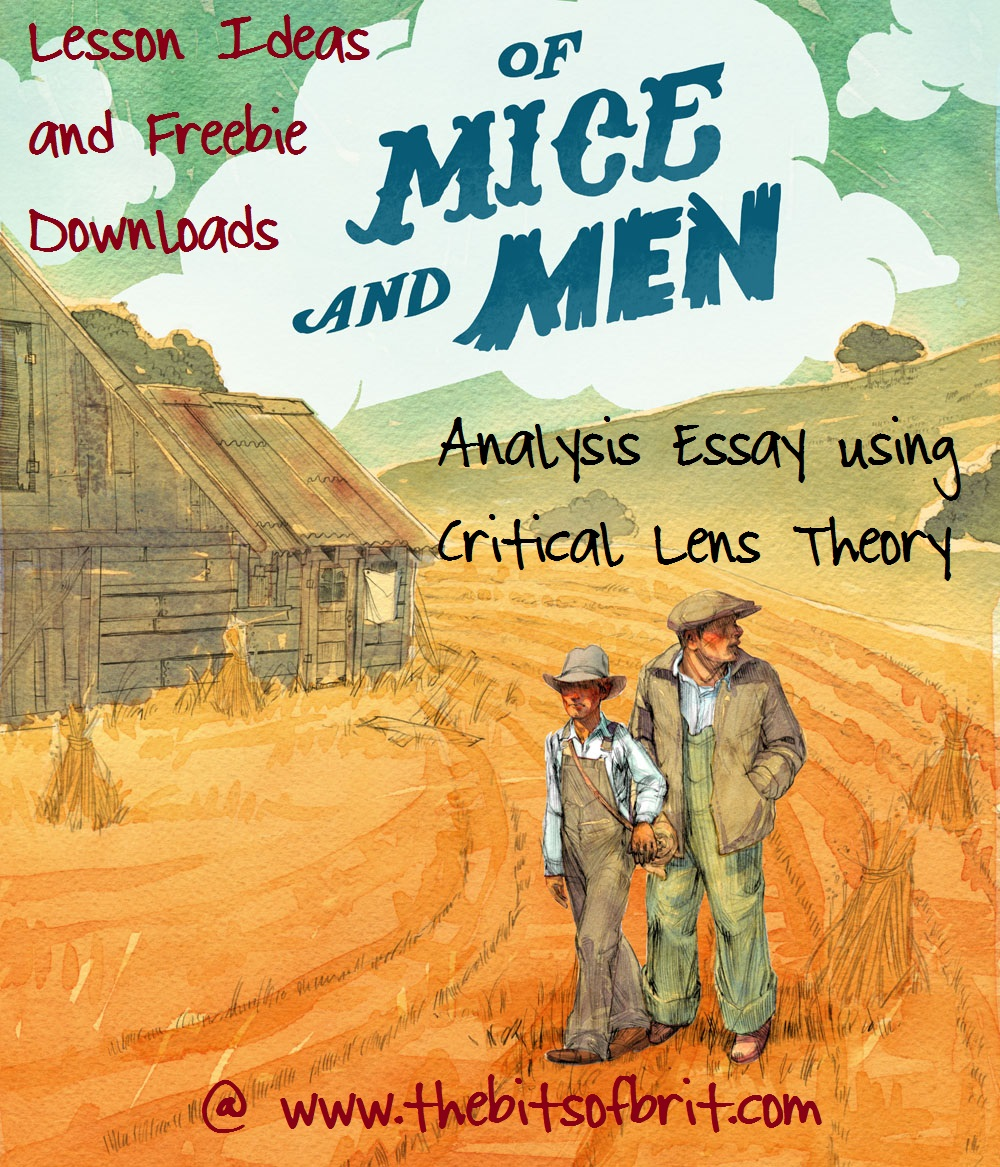 critical lens essay for of mice and men